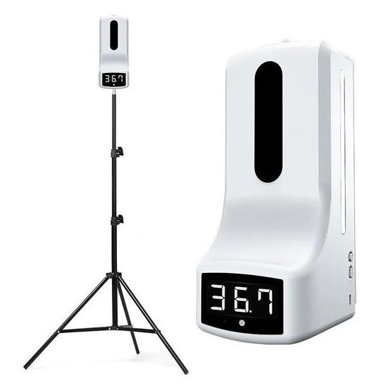 Dispensador Despachador Termometro tripie Explo