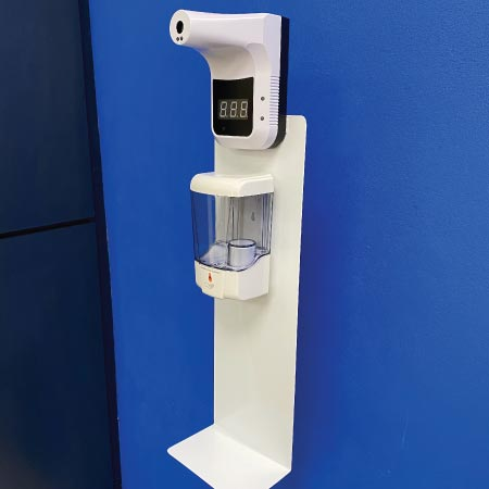 Dispensador Despachador de gel con Termómetro Pedestal Explo